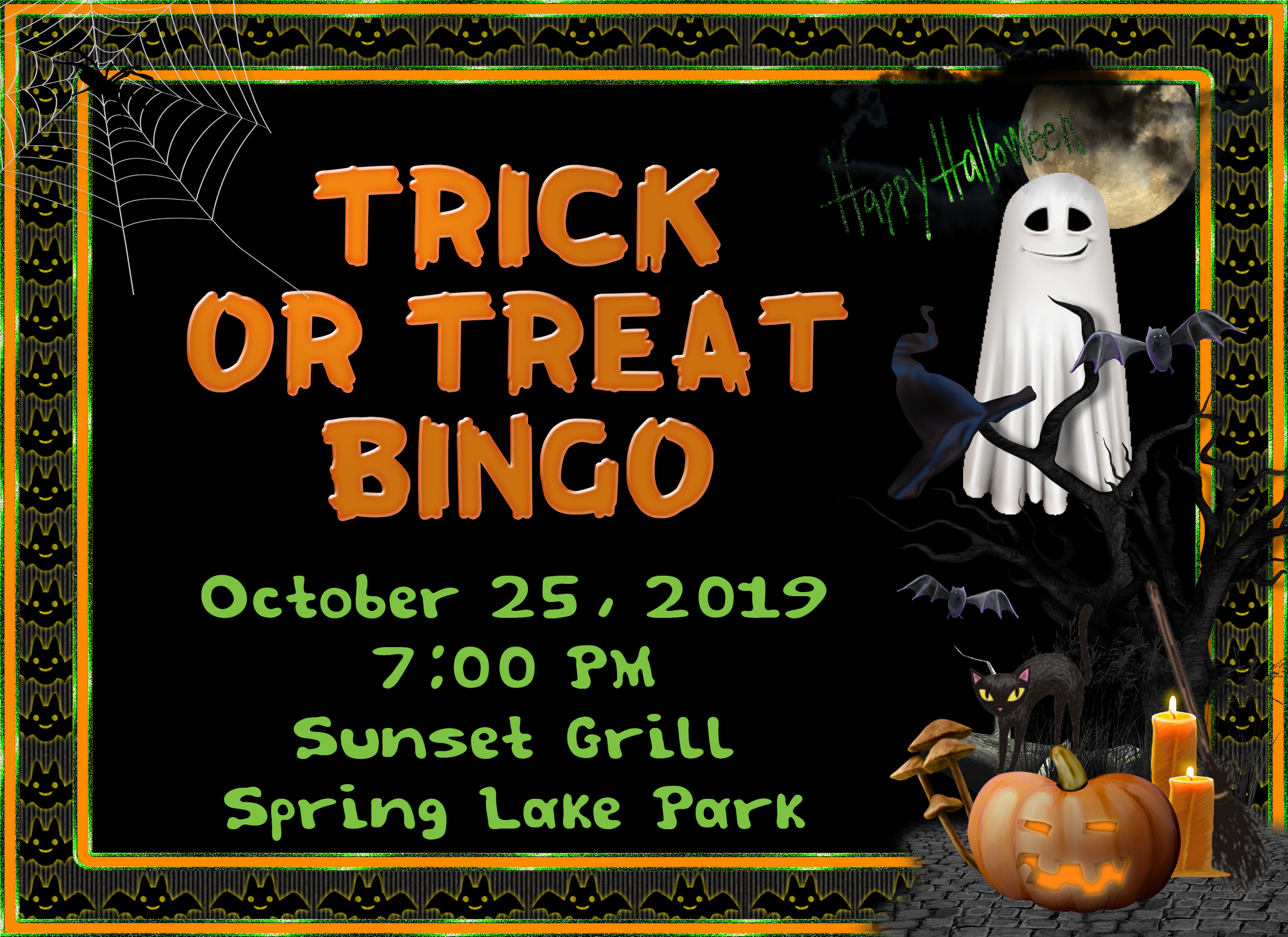 Trick Or Treat Bingo, Sunset Grill, 10/25/19
